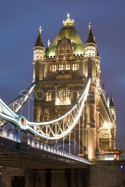 Londra Tower Bridge tramonto diverso colori Foto d'archivio © deyangeorgiev