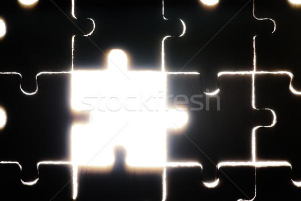 Fából készült puzzle háttérvilágítás közelkép absztrakt csoport Stock fotó © deyangeorgiev