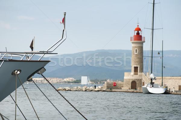Port light in Saint Tropez Stock photo © deyangeorgiev