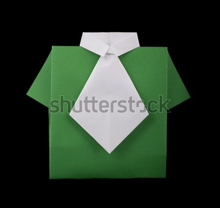 Isolated paper made green shirt. Stock photo © deyangeorgiev