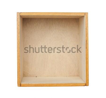Caixa cedro madeira branco isolado Foto stock © deyangeorgiev