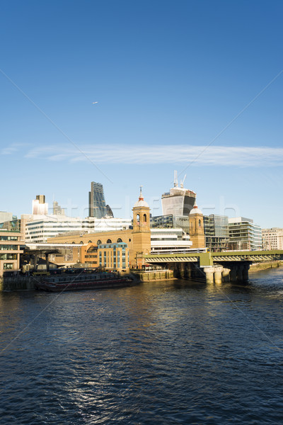 City of London on Thames Stock photo © deyangeorgiev