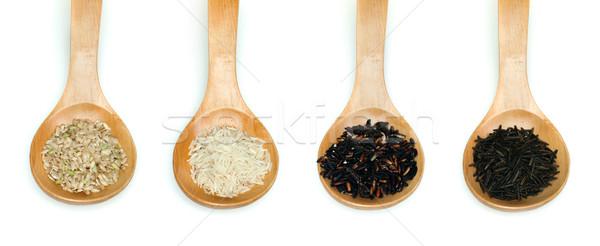 Rice integral, basmati, Wild rice and black rice Stock photo © deyangeorgiev