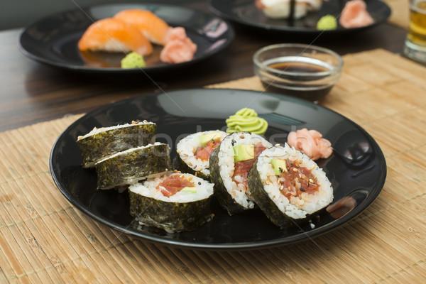 Sushi in sushi bar Stock photo © deyangeorgiev
