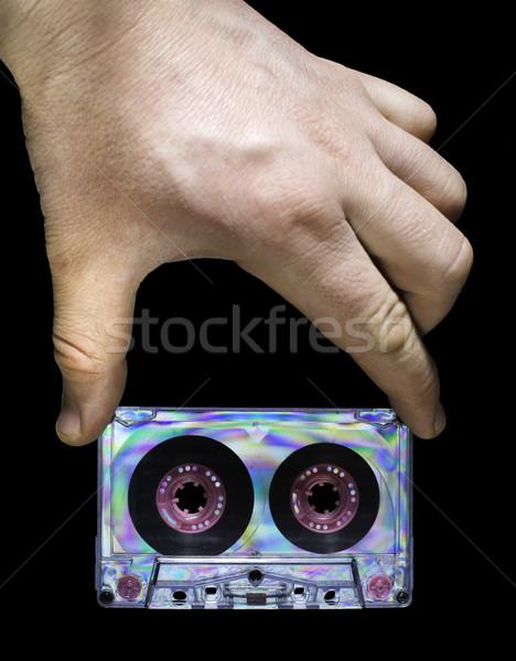 Strony vintage kaseta taśmy ciemne Zdjęcia stock © deyangeorgiev