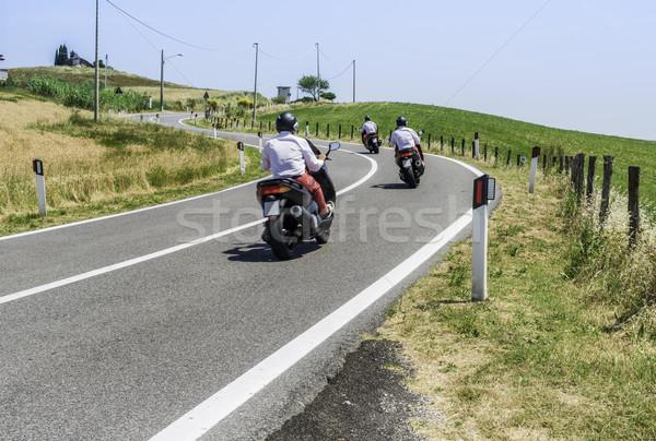 スクーター 道路 イタリア 通り 自転車 速度 ストックフォト © deyangeorgiev