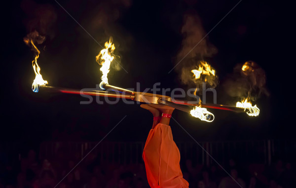 Juggler in the circus Stock photo © deyangeorgiev