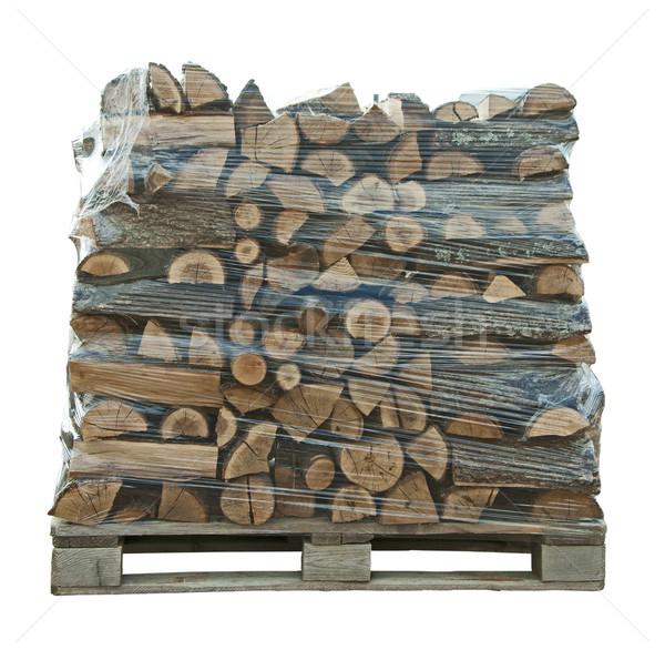 Packaged stack of freshly cut trees  Stock photo © deyangeorgiev