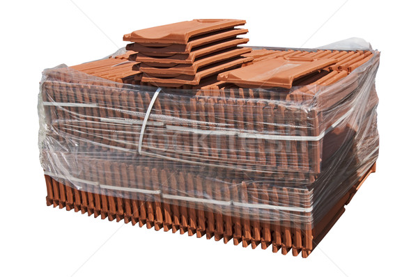 Pile of roofing tiles packaged. Stock photo © deyangeorgiev