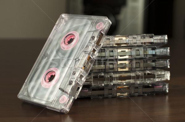 Pile of audio tape cassettes Stock photo © deyangeorgiev