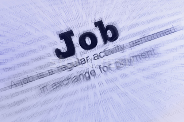 Stock photo: Job conception text