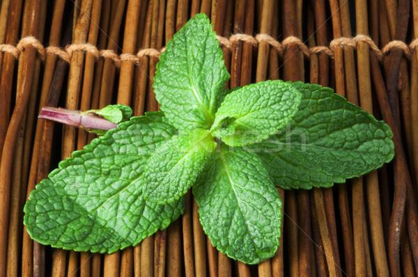 De folhas fresco comida Foto stock © deyangeorgiev