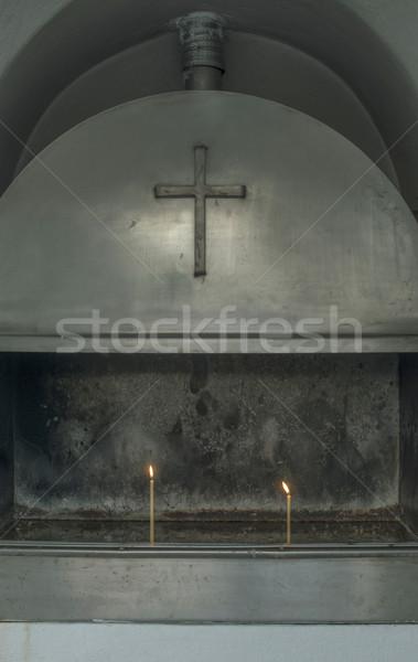Brandend kaarsen kerk dag licht Griekenland Stockfoto © deyangeorgiev