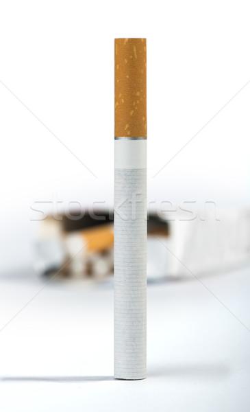Cigarette on the foreground Stock photo © deyangeorgiev