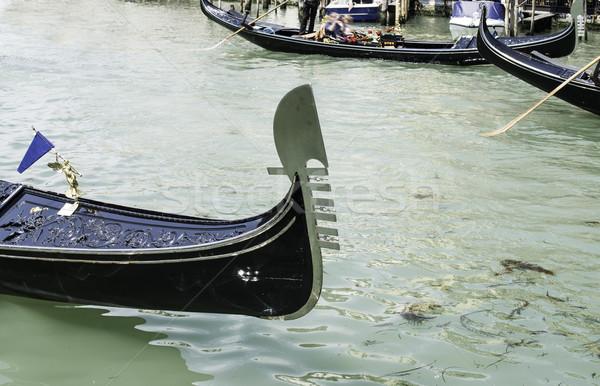 Eski gondol Venedik tekne su Stok fotoğraf © deyangeorgiev