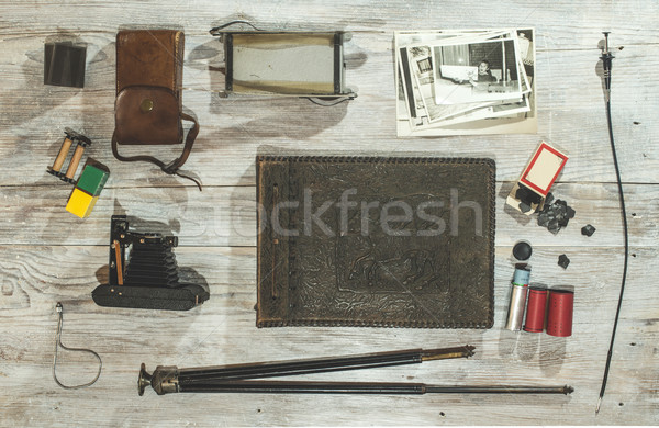 Vintage photo camera concept Stock photo © deyangeorgiev