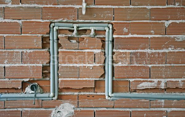 Encanamento construção novo edifício água trabalhar Foto stock © deyangeorgiev