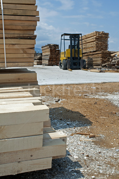 Carpentry factory and ordered timber Stock photo © deyangeorgiev