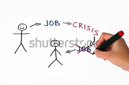 Job and crisis conception illustration Stock photo © deyangeorgiev