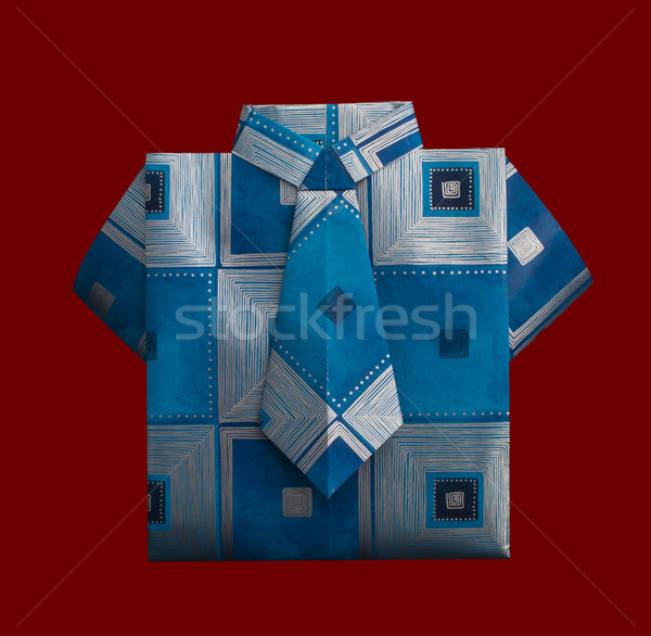 Isolated paper made shirt with ornaments. Stock photo © deyangeorgiev