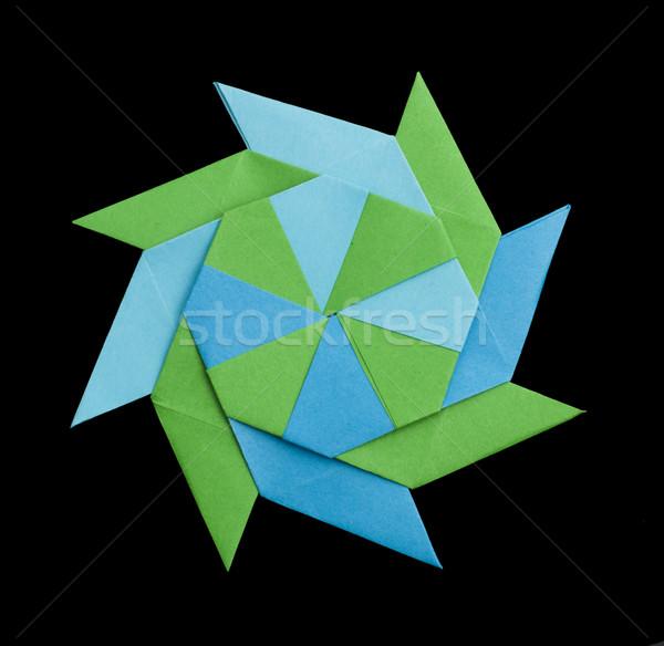 Geometric figure origami Stock photo © deyangeorgiev