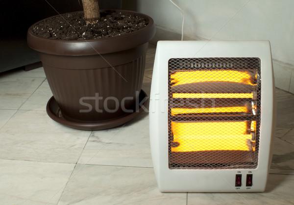 Elétrico aquecedor halogênio mármore casa Foto stock © deyangeorgiev