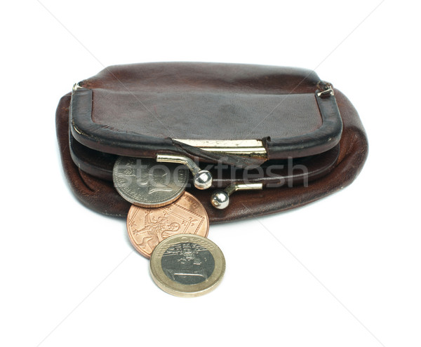 Old ladies brown leather purse  Stock photo © deyangeorgiev