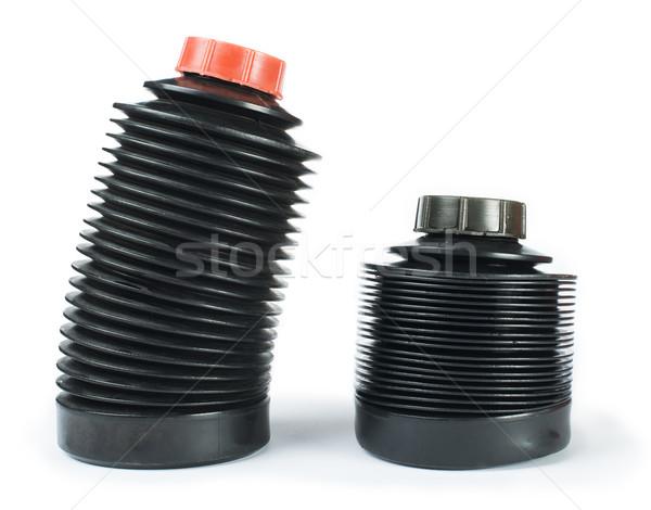 Raktár vegyszerek fekete stúdiófelvétel fém ipar Stock fotó © deyangeorgiev