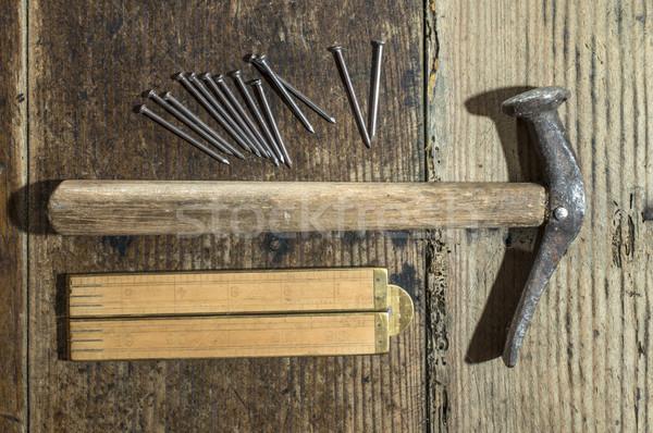 ヴィンテージ ハンマー 爪 木製 センチ ストックフォト © deyangeorgiev