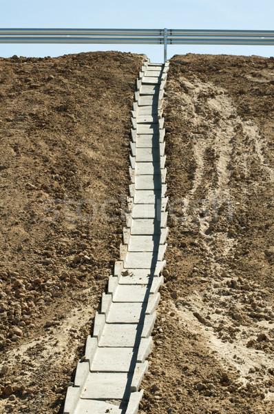 Karayolu boşaltmak su yol inşaat alan Stok fotoğraf © deyangeorgiev