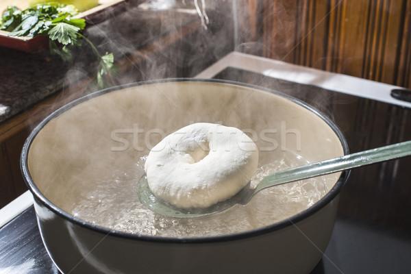 Koken vintage brood fabriek chef Stockfoto © deyangeorgiev
