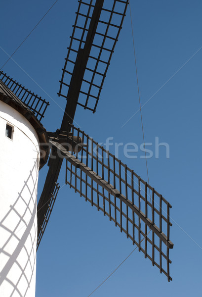 белый древних Windmill плавник здании Сток-фото © deyangeorgiev