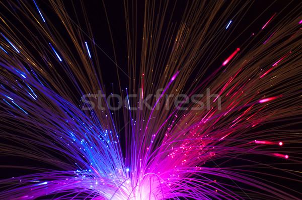 Optische Netzwerk blau Zukunft digitalen Informationen Stock foto © deyangeorgiev