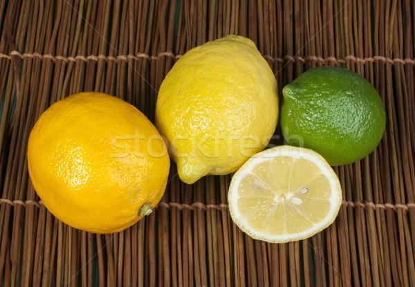 Three varieties of lemons Stock photo © deyangeorgiev