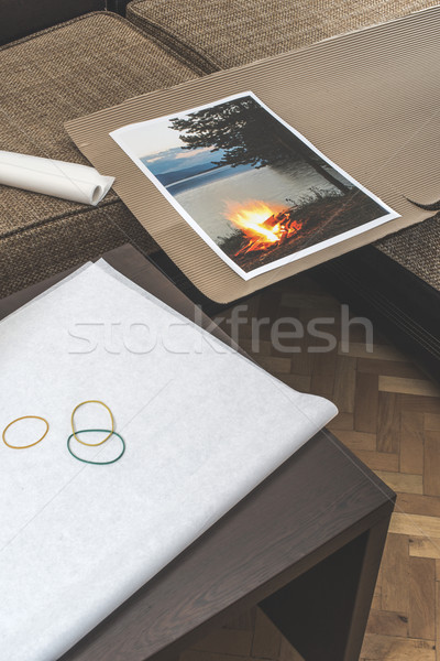 Packaging of printed wall art picture Stock photo © deyangeorgiev