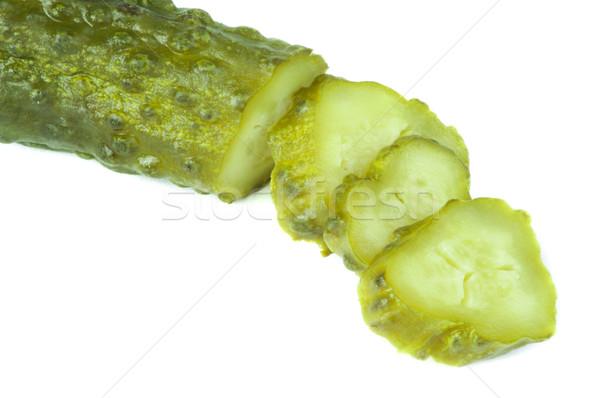 Stock fotó: Savanyúság · fehér · izolált · eszik · stúdió · zöldség
