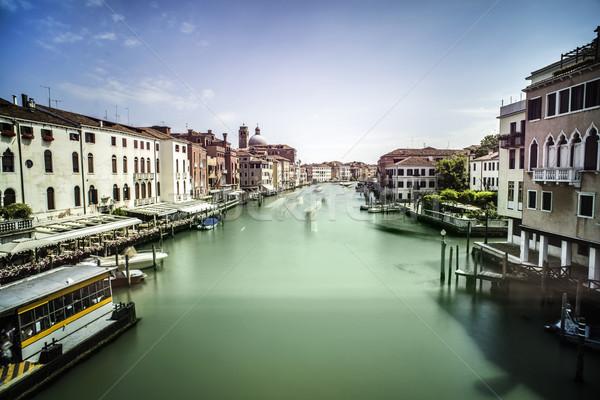 древних зданий лодках канал Венеция дома Сток-фото © deyangeorgiev
