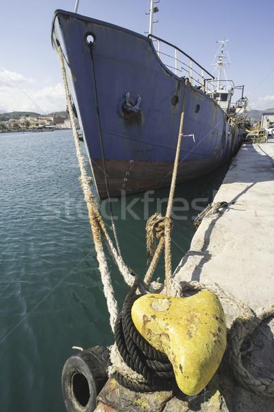 Cuerdas barco agua azul buque Foto stock © deyangeorgiev