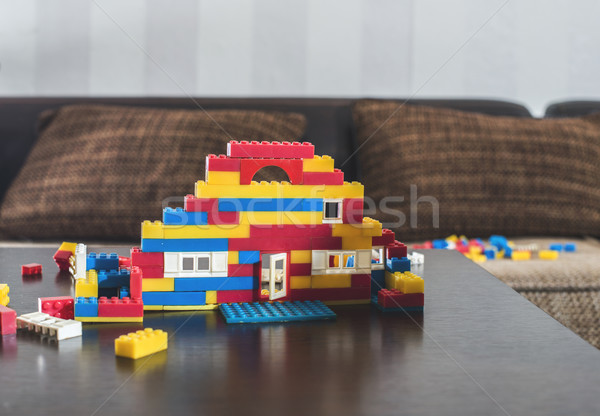 Children constructor on a table Stock photo © deyangeorgiev