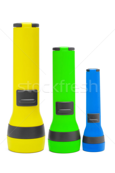Three standing torchlights Stock photo © dezign56