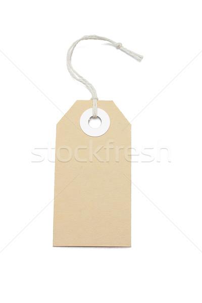 цен тег коричневый карт белый торговых Сток-фото © dezign56