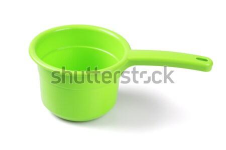 üres műanyag merítőkanál fehér fürdőkád tárgy Stock fotó © dezign56