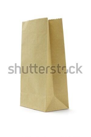 袋 ブラウン 使い捨て 紙袋 白 ストックフォト © dezign56