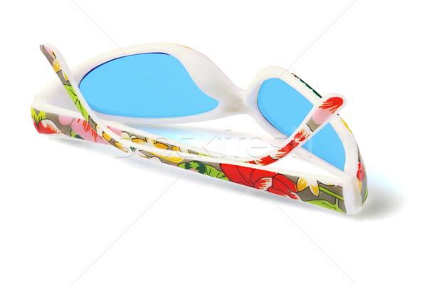 Parti plastik güneş gözlüğü yalıtılmış beyaz çocuklar Stok fotoğraf © dezign56