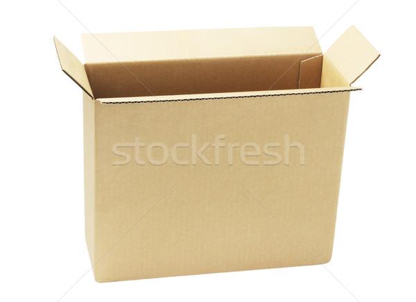 Open carta marrone finestra bianco riciclare piedi Foto d'archivio © dezign56