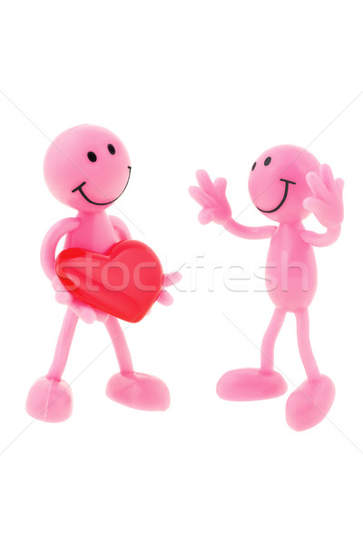 One smiley loving another  Stock photo © dezign56