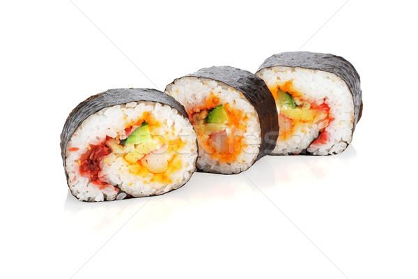 Sushi rulo beyaz grup Stok fotoğraf © dezign56