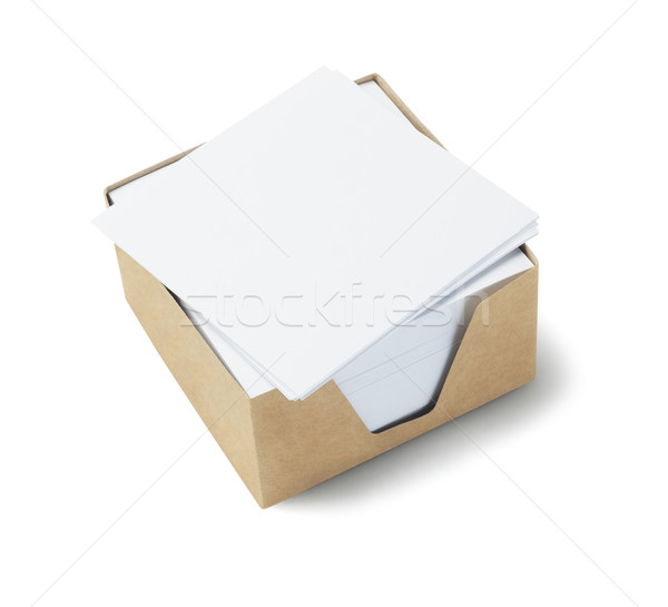 Biały notatka kart polu działalności mail Zdjęcia stock © dezign56