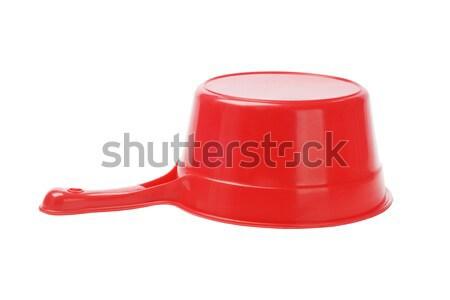 Műanyag merítőkanál piros fehér szín zuhany Stock fotó © dezign56