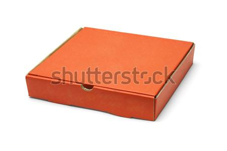 Orange color pizza takeaway box Stock photo © dezign56